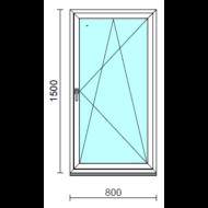 Bukó-nyíló ablak.   80x150 cm (Rendelhető méretek: szélesség 75- 84 cm, magasság 145-154 cm.)   Optima 76 profilból