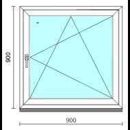 Bukó-nyíló ablak.   90x 90 cm (Rendelhető méretek: szélesség 85- 94 cm, magasság 85- 94 cm.)  New Balance 85 profilból