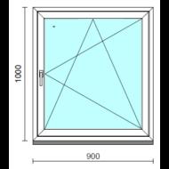 Bukó-nyíló ablak.   90x100 cm (Rendelhető méretek: szélesség 85- 94 cm, magasság 95-104 cm.)  New Balance 85 profilból