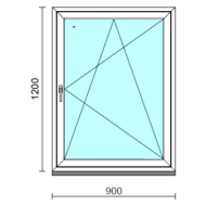 Bukó-nyíló ablak.   90x120 cm (Rendelhető méretek: szélesség 85- 94 cm, magasság 115-124 cm.) Deluxe A85 profilból