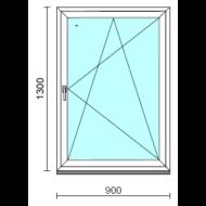 Bukó-nyíló ablak.   90x130 cm (Rendelhető méretek: szélesség 85- 94 cm, magasság 125-134 cm.)  New Balance 85 profilból