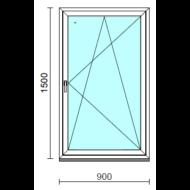 Bukó-nyíló ablak.   90x150 cm (Rendelhető méretek: szélesség 85- 94 cm, magasság 145-154 cm.)  New Balance 85 profilból