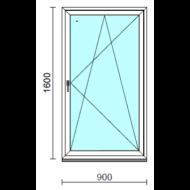 Bukó-nyíló ablak.   90x160 cm (Rendelhető méretek: szélesség 85- 94 cm, magasság 155-164 cm.)   Optima 76 profilból