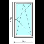 Bukó-nyíló ablak.   90x170 cm (Rendelhető méretek: szélesség 85- 94 cm, magasság 165-174 cm.) Deluxe A85 profilból