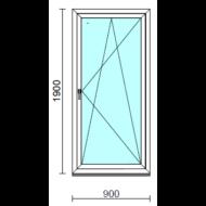 Bukó-nyíló erkélyajtó (befelé nyíló).   90x190 cm (Rendelhető méretek: szélesség 85-94 cm, magasság 185-194 cm.)  New Balance 85 profilból