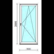Bukó-nyíló erkélyajtó (befelé nyíló).   90x200 cm (Rendelhető méretek: szélesség 85-94 cm, magasság 195-204 cm.)  New Balance 85 profilból