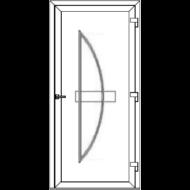Egyszárnyú befelé nyíló ERŐSÍTETT bejárati ajtó SLine Boden Light  tömör díszpanellel. CSAK FEHÉR SZÍNBEN!  (Rendelhető méretek: szélesség 83-108 cm, magasság 185-216 cm.)   Optima 76 profilból