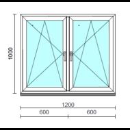 TO Bny-Bny ablak.  120x100 cm (Rendelhető méretek: szélesség 120-124 cm, magasság 95-104 cm.) Deluxe A85 profilból