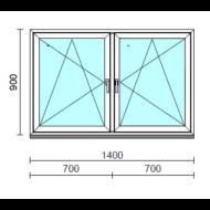 TO Bny-Bny ablak.  140x 90 cm (Rendelhető méretek: szélesség 135-144 cm, magasság 85-94 cm.) Deluxe A85 profilból