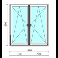 TO Bny-Bny ablak.  140x150 cm (Rendelhető méretek: szélesség 135-144 cm, magasság 145-154 cm.)  New Balance 85 profilból