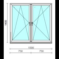 TO Bny-Bny ablak.  150x140 cm (Rendelhető méretek: szélesség 145-154 cm, magasság 135-144 cm.)  New Balance 85 profilból