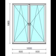 TO Bny-Bny ablak.  160x190 cm (Rendelhető méretek: szélesség 155-164 cm, magasság 185-190 cm.)   Optima 76 profilból