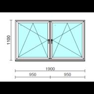 TO Bny-Bny ablak.  190x110 cm (Rendelhető méretek: szélesség 185-194 cm, magasság 105-114 cm.)  New Balance 85 profilból