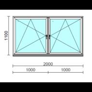 TO Bny-Bny ablak.  200x110 cm (Rendelhető méretek: szélesség 195-204 cm, magasság 105-114 cm.)  New Balance 85 profilból