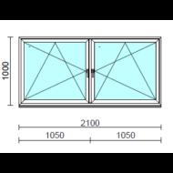 TO Bny-Bny ablak.  210x100 cm (Rendelhető méretek: szélesség 205-214 cm, magasság 95-104 cm.)  New Balance 85 profilból