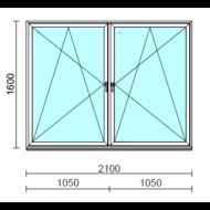 TO Bny-Bny ablak.  210x160 cm (Rendelhető méretek: szélesség 205-214 cm, magasság 155-164 cm.)   Optima 76 profilból