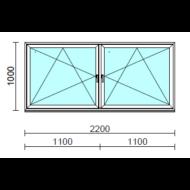TO Bny-Bny ablak.  220x100 cm (Rendelhető méretek: szélesség 215-224 cm, magasság 95-104 cm.)  New Balance 85 profilból