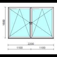 TO Bny-Bny ablak.  220x150 cm (Rendelhető méretek: szélesség 215-224 cm, magasság 145-154 cm.)   Optima 76 profilból