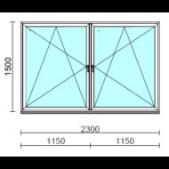 TO Bny-Bny ablak.  230x150 cm (Rendelhető méretek: szélesség 225-234 cm, magasság 145-154 cm.)   Optima 76 profilból