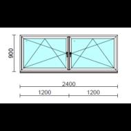 TO Bny-Bny ablak.  240x 90 cm (Rendelhető méretek: szélesség 235-240 cm, magasság 85-94 cm.)  New Balance 85 profilból