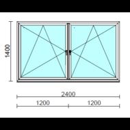 TO Bny-Bny ablak.  240x140 cm (Rendelhető méretek: szélesség 235-240 cm, magasság 135-144 cm.)   Optima 76 profilból