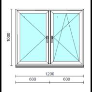 TO Ny-Bny ablak.  120x100 cm (Rendelhető méretek: szélesség 120-124 cm, magasság 95-104 cm.) Deluxe A85 profilból
