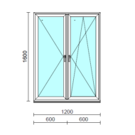 TO Ny-Bny ablak.  120x160 cm (Rendelhető méretek: szélesség 120-124 cm, magasság 155-164 cm.)  New Balance 85 profilból