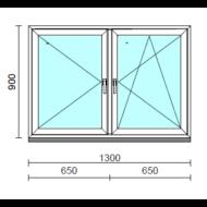 TO Ny-Bny ablak.  130x 90 cm (Rendelhető méretek: szélesség 125-134 cm, magasság 85-94 cm.) Deluxe A85 profilból