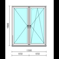 TO Ny-Bny ablak.  130x150 cm (Rendelhető méretek: szélesség 125-134 cm, magasság 145-154 cm.)  New Balance 85 profilból