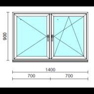 TO Ny-Bny ablak.  140x 90 cm (Rendelhető méretek: szélesség 135-144 cm, magasság 85-94 cm.) Deluxe A85 profilból