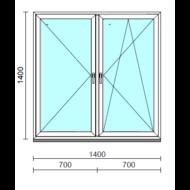 TO Ny-Bny ablak.  140x140 cm (Rendelhető méretek: szélesség 135-144 cm, magasság 135-144 cm.)  New Balance 85 profilból