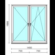 TO Ny-Bny ablak.  140x150 cm (Rendelhető méretek: szélesség 135-144 cm, magasság 145-154 cm.)  New Balance 85 profilból