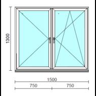 TO Ny-Bny ablak.  150x130 cm (Rendelhető méretek: szélesség 145-154 cm, magasság 125-134 cm.)  New Balance 85 profilból
