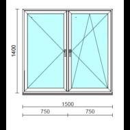 TO Ny-Bny ablak.  150x140 cm (Rendelhető méretek: szélesség 145-154 cm, magasság 135-144 cm.)  New Balance 85 profilból