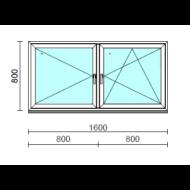TO Ny-Bny ablak.  160x 80 cm (Rendelhető méretek: szélesség 155-164 cm, magasság 80-84 cm.) Deluxe A85 profilból