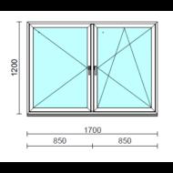TO Ny-Bny ablak.  170x120 cm (Rendelhető méretek: szélesség 165-174 cm, magasság 115-124 cm.)  New Balance 85 profilból