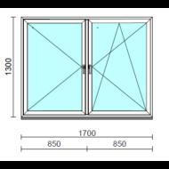 TO Ny-Bny ablak.  170x130 cm (Rendelhető méretek: szélesség 165-174 cm, magasság 125-134 cm.)  New Balance 85 profilból
