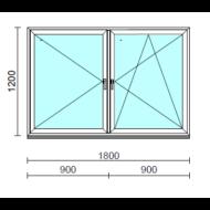 TO Ny-Bny ablak.  180x120 cm (Rendelhető méretek: szélesség 175-180 cm, magasság 115-124 cm.)  New Balance 85 profilból