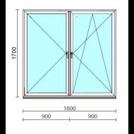 TO Ny-Bny ablak.  180x170 cm (Rendelhető méretek: szélesség 175-180 cm, magasság 165-174 cm.)   Optima 76 profilból