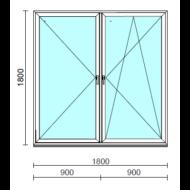 TO Ny-Bny ablak.  180x180 cm (Rendelhető méretek: szélesség 175-180 cm, magasság 175-184 cm.)   Optima 76 profilból