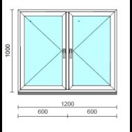 TO Ny-Ny ablak.  120x100 cm (Rendelhető méretek: szélesség 120-124 cm, magasság 95-104 cm.)  New Balance 85 profilból