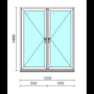 TO Ny-Ny ablak.  120x140 cm (Rendelhető méretek: szélesség 120-124 cm, magasság 135-144 cm.)   Optima 76 profilból