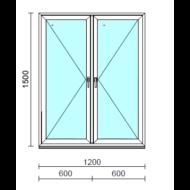 TO Ny-Ny ablak.  120x150 cm (Rendelhető méretek: szélesség 120-124 cm, magasság 145-154 cm.)   Optima 76 profilból