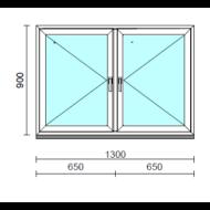 TO Ny-Ny ablak.  130x 90 cm (Rendelhető méretek: szélesség 125-134 cm, magasság 85-94 cm.)  New Balance 85 profilból