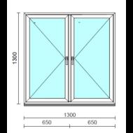 TO Ny-Ny ablak.  130x130 cm (Rendelhető méretek: szélesség 125-134 cm, magasság 125-134 cm.)   Optima 76 profilból