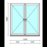 TO Ny-Ny ablak.  130x140 cm (Rendelhető méretek: szélesség 125-134 cm, magasság 135-144 cm.)   Optima 76 profilból