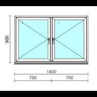 TO Ny-Ny ablak.  140x 90 cm (Rendelhető méretek: szélesség 135-144 cm, magasság 85-94 cm.)  New Balance 85 profilból