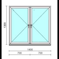 TO Ny-Ny ablak.  140x130 cm (Rendelhető méretek: szélesség 135-144 cm, magasság 125-134 cm.)   Optima 76 profilból