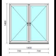 TO Ny-Ny ablak.  140x140 cm (Rendelhető méretek: szélesség 135-144 cm, magasság 135-144 cm.)   Optima 76 profilból