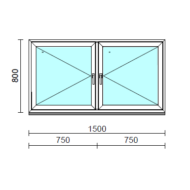 TO Ny-Ny ablak.  150x 80 cm (Rendelhető méretek: szélesség 145-154 cm, magasság 80-84 cm.)  New Balance 85 profilból